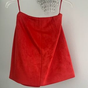 French Connection Skirts - Red suede skirt